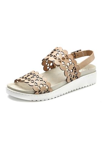 LASCANA Sandale, aus Leder mit bequemem Leder-Fussbett und modischen Cut-Outs kaufen