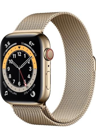 Apple Smartwatch »Apple Watch Series 6 GPS + Cellular, Edelstahlgehäuse, 44 mm mit... kaufen