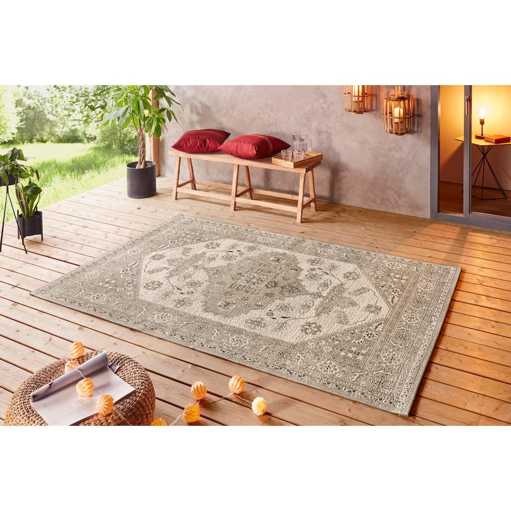 bougari Teppich »Navarino«, rechteckig, 8 mm Höhe, Für In- und Outdoor geeignet, Wohnzimmer