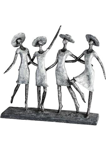 Casablanca by Gilde Dekofigur »Skulptur 4 Ladys, antik silberfarben«, Dekoobjekt, Höhe... kaufen