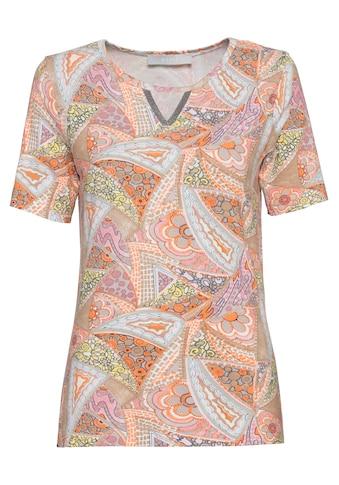 bianca Print-Shirt »IFFI«, in tollem Mustermix mit glitzerner Pololeiste kaufen