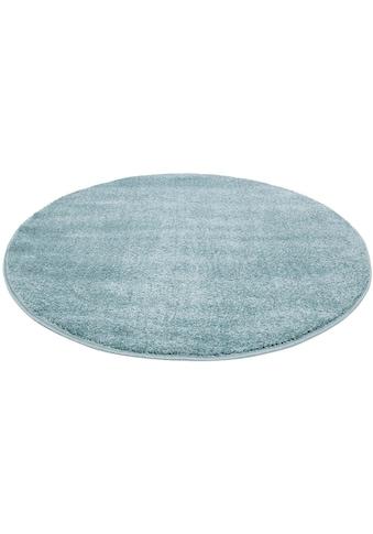 Carpet City Teppich »Moda Soft 2081«, rund, 11 mm Höhe, pastell Farben, Kurzflor, Wohnzimmer kaufen