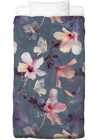 Bettwäsche »Butterflies & Hibiscus Flowers«, Juniqe kaufen