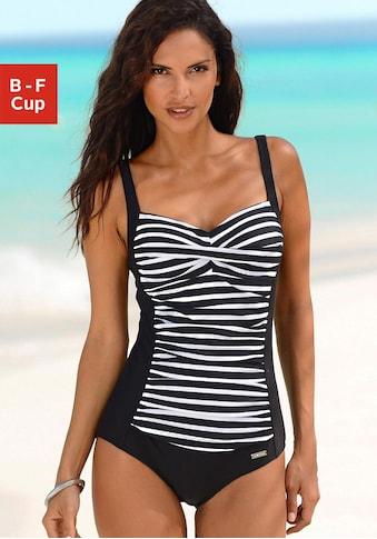 LASCANA Badeanzug, mit Streifendruck kaufen