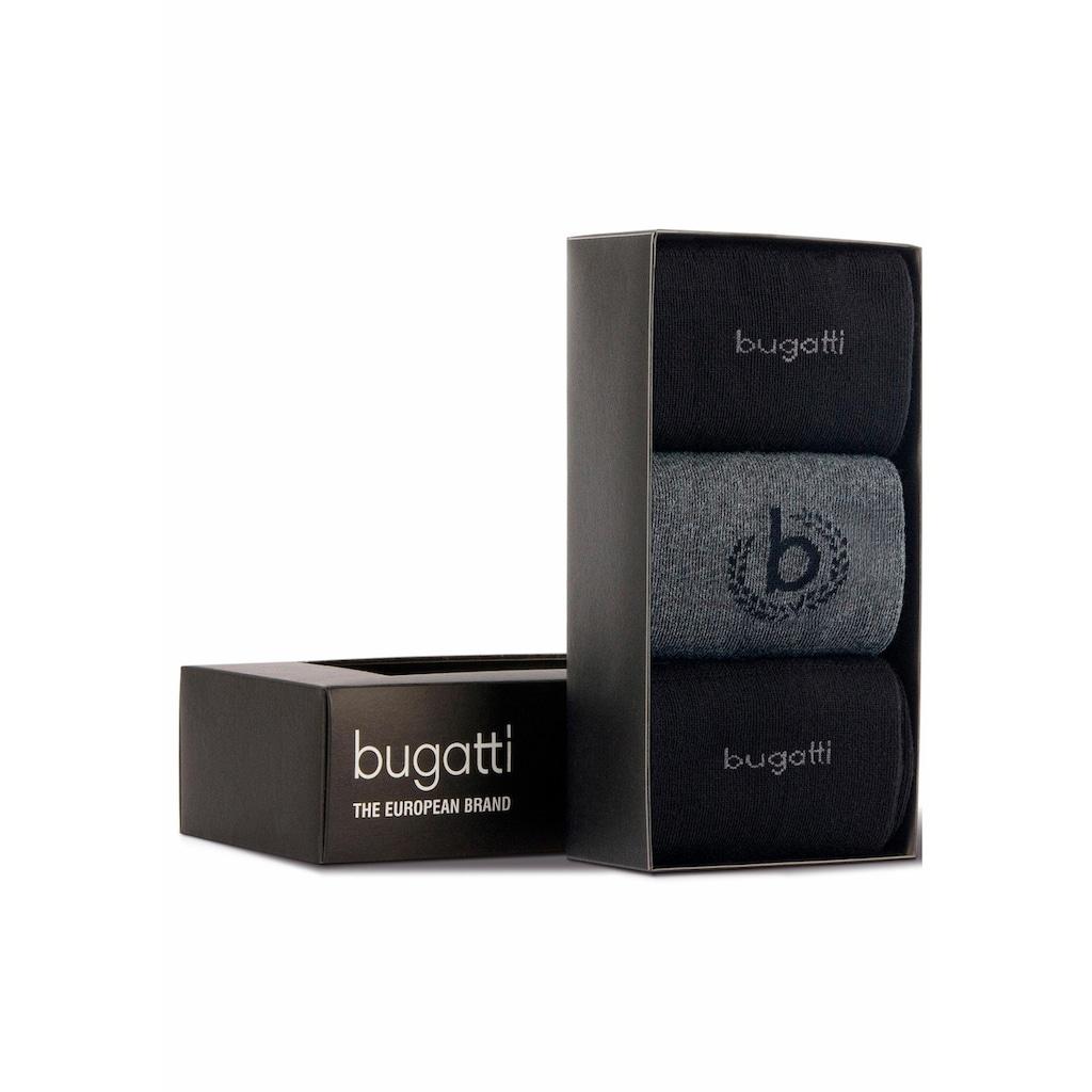 bugatti Businesssocken, (Box, 3 Paar), in der Geschenkbox