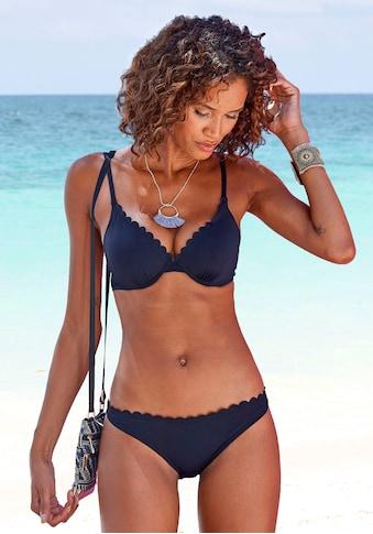 LASCANA Bikini-Hose »Scallop«, mit gelaserter Wellenkante kaufen