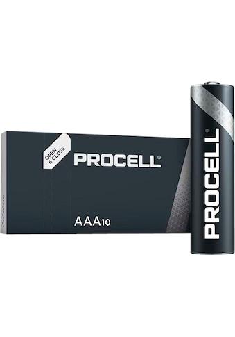 Duracell Batterie »Batterie Alkaline, Micro, AAA, LR03, 1.5V, Procell, Box (10-Pack)«,... kaufen