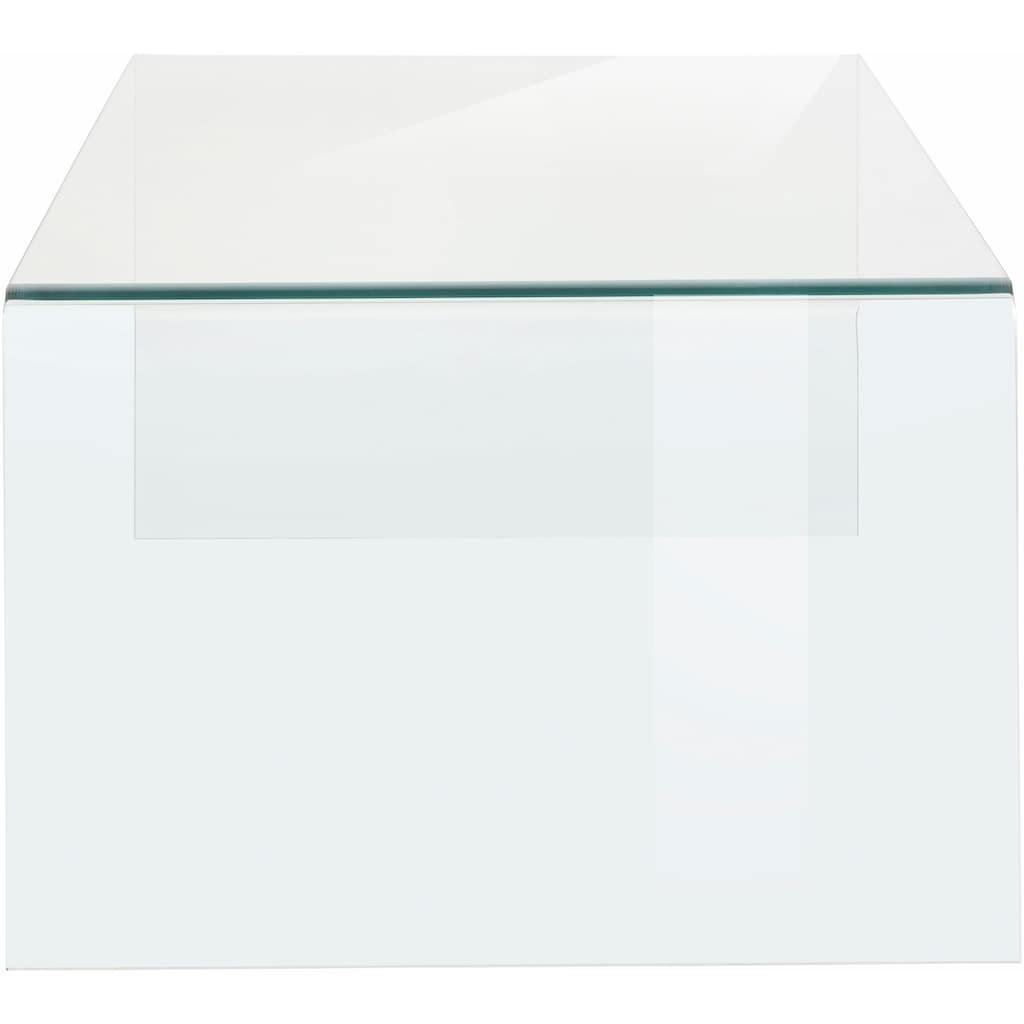 Paroli Couchtisch, aus Klarglas