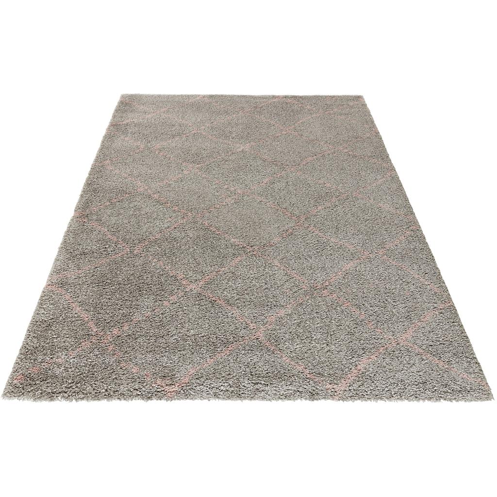 MINT RUGS Hochflor-Teppich »Hash«, rechteckig, 35 mm Höhe, Scandi Look, Wohnzimmer
