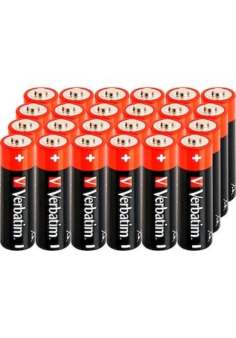 Verbatim Batterie »Batterie Alkaline, Mignon, AA, LR06, 1.5V, Retail Box, (24-Pack)« kaufen