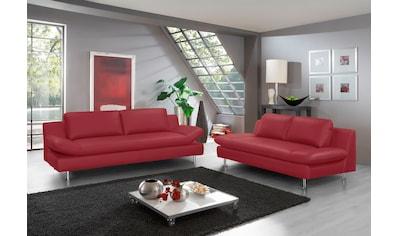 PLACES OF STYLE Polstergarnitur »Redding«, (Set, 2 St.), bestehend aus 2- und 3-Sitzer kaufen
