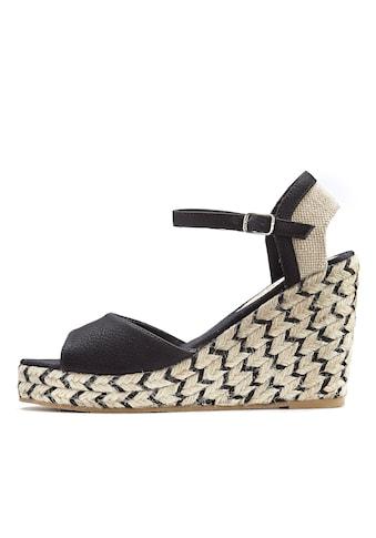LASCANA High-Heel-Sandalette, mit Keilabsatz im Ethno-Look kaufen