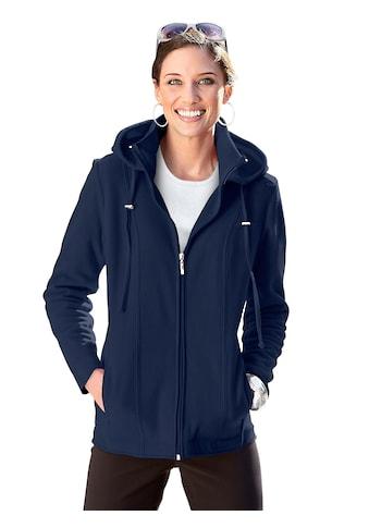 Casual Looks Fleece - Jacke mit abnehmbarer Kapuze kaufen