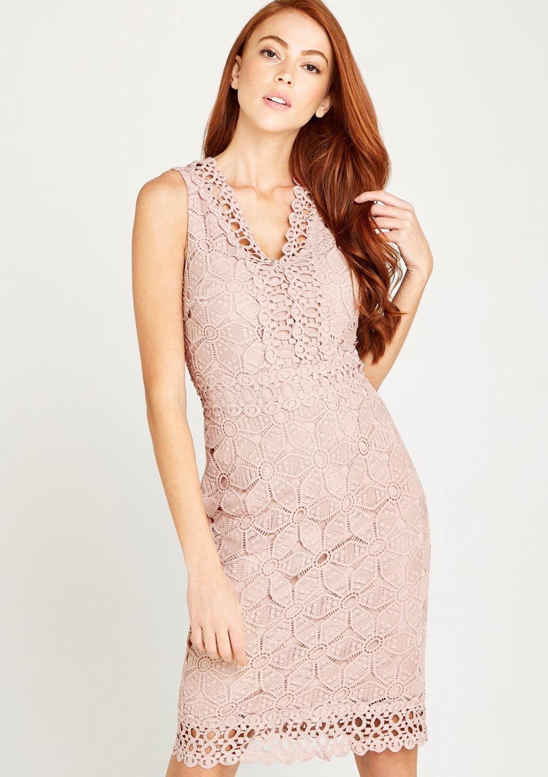 apricot -  Etuikleid Lace With Crochet Detail Dress