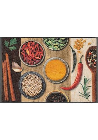 wash+dry by Kleen-Tex Fussmatte »Hot Spices«, rechteckig, 9 mm Höhe, Schmutzfangmatte,... kaufen
