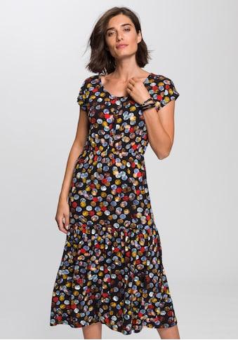 Boysen's Jerseykleid, Mit süssem Druck und Volantrock kaufen