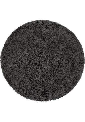 Paco Home Hochflor-Teppich »Sky 250«, rund, 35 mm Höhe, intensive Farbbrillanz, Wohnzimmer kaufen