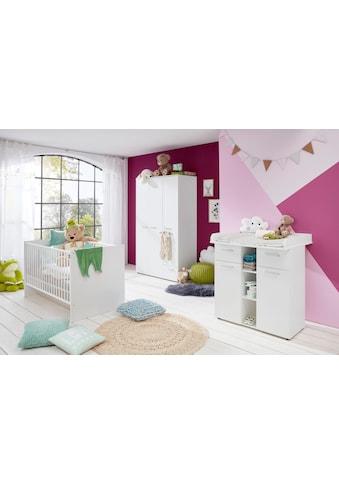 Babyzimmer-Komplettset »Tilburg«, (Set, 3 tlg.), Wickelkommode, Bett und 3trg. Schrank kaufen
