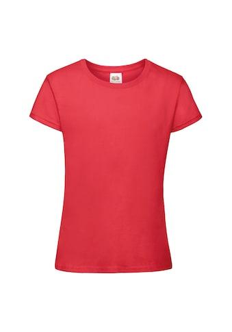Fruit of the Loom T - Shirt »Mädchen Sofspun , Kurzarm, Rundhalsausschnitt« kaufen