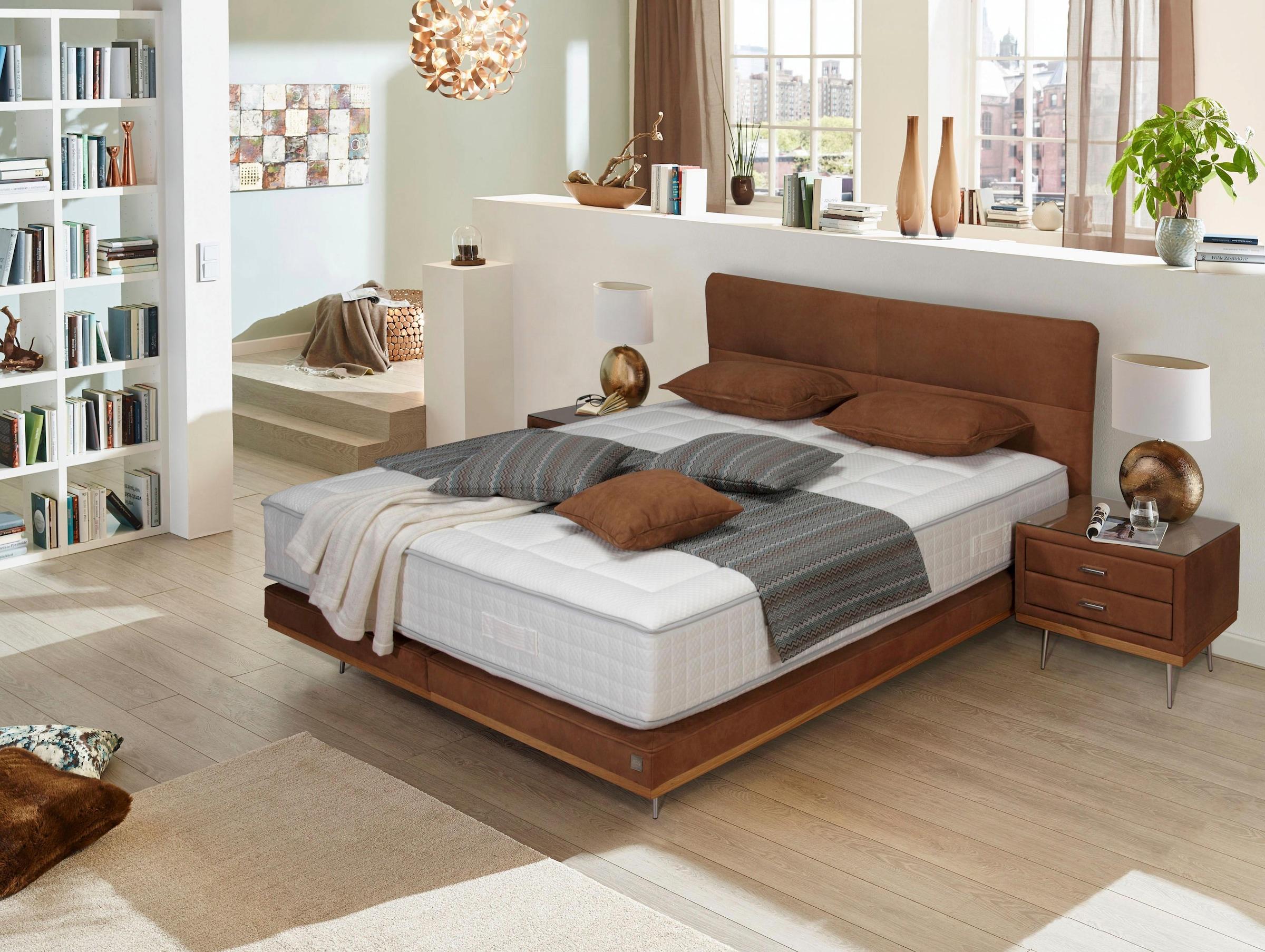 ADA premium Boxspringbett »Teana« BK TE51 KT TE02 mit Metallfuß und Holzleiste, in 3 Größe