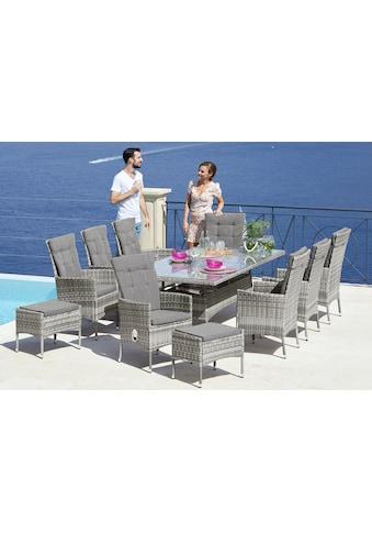 KONIFERA Gartenmöbelset »Belluno«, (17 tlg.), 8 Sessel, Tisch 200x100 cm, Polyrattan kaufen