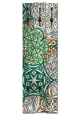 Artland Garderobenpaneel »Marokkanischer Stil_grün«, platzsparende Wandgarderobe aus... kaufen