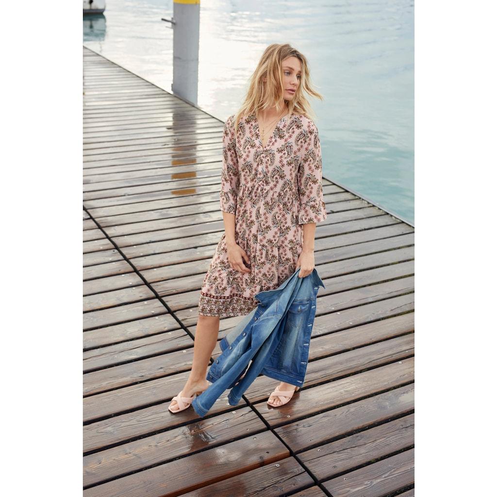 Aniston CASUAL Tunikakleid, mit verspielten Paisley-Druck - NEUE KOLLEKTION
