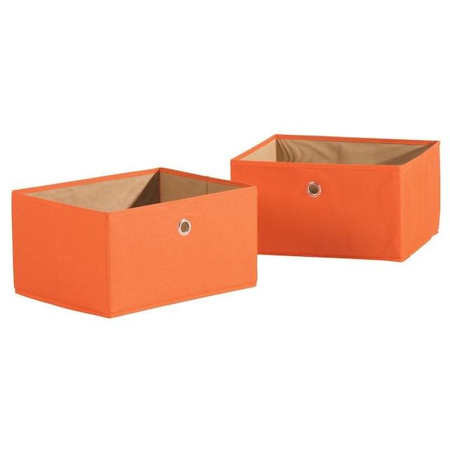 roba® Aufbewahrungsbox »Canvas-Boxen, orange« (Set, 2 Stück)