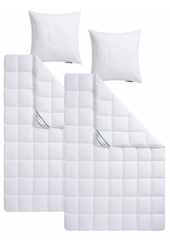 f.a.n. Schlafkomfort Kunstfaserbettdecke + Kopfkissen »Wellness Line«, (Spar-Set),... kaufen