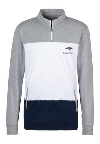 KangaROOS Sweatshirt, mit Stehkragen mit kurzen Reissverschluss kaufen