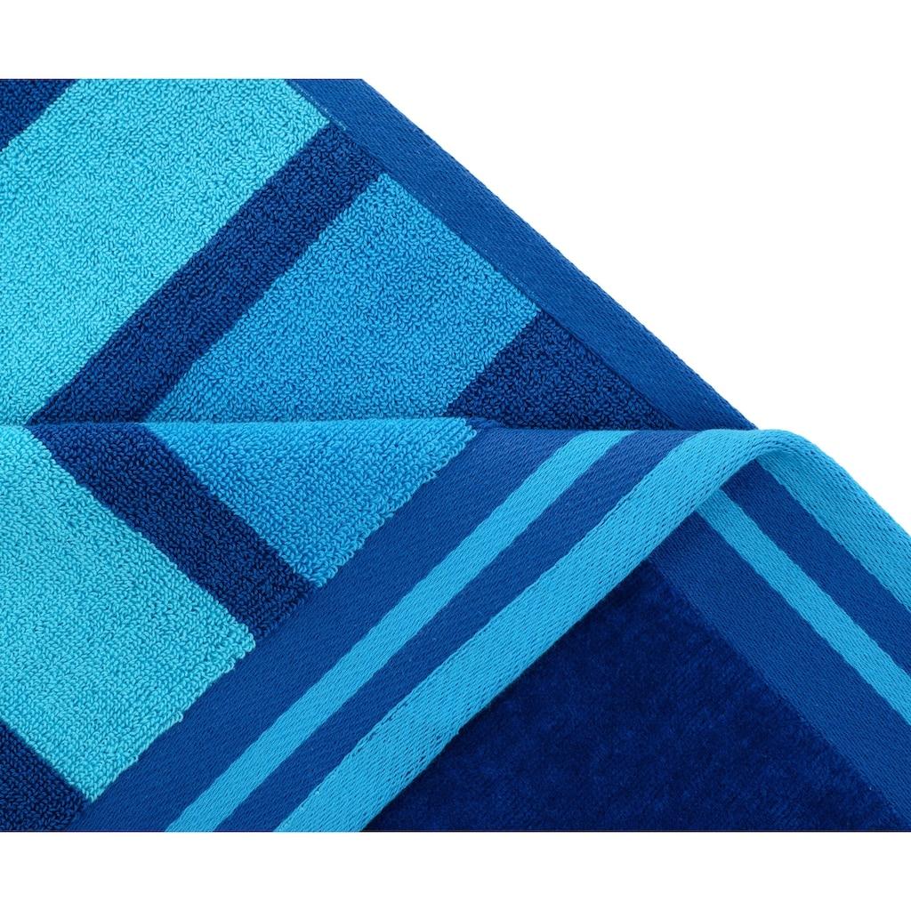 Gözze Strandtuch »Streifen«, (1 St.), mit harmonischen Streifen