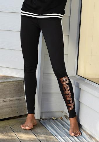 Bench. Leggings, mit Logodruck in Metalloptik kaufen