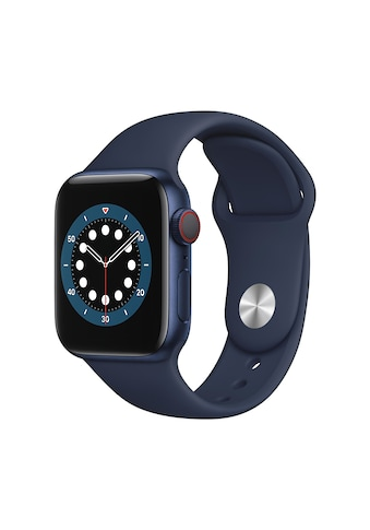 Apple Smartwatch »Serie 6, GPS Cellular, 40 mm Aluminium-Gehäuse mit Sportarmband«,... kaufen