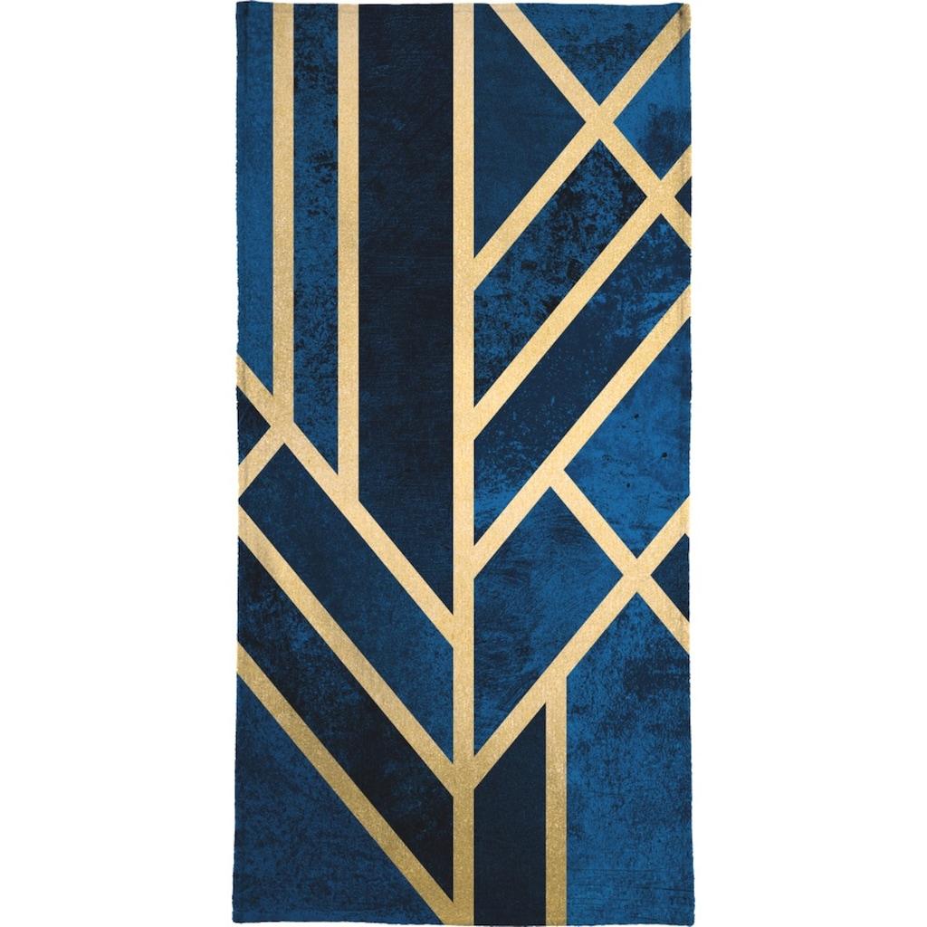 Juniqe Handtuch »Art Deco Midnight«, (1 St.), Weiche Frottee-Veloursqualität
