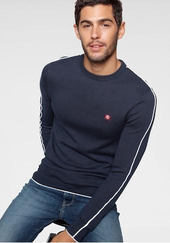 TOM TAILOR Polo Team Rundhalspullover, mit grosser Rücken- Logostickerei kaufen