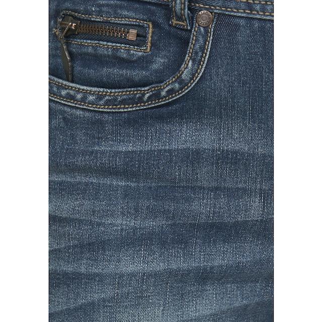 Arizona Bootcut-Jeans »mit Zippertasche«