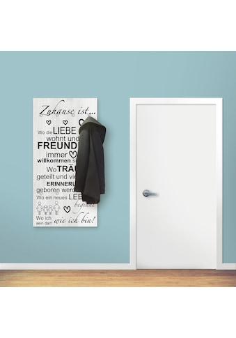 Artland Garderobe »Wo die Liebe wohnt«, platzsparende Wandgarderobe aus Holz mit 6... kaufen