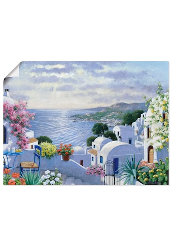 Artland Wandbild »Funkelndes Griechenland«, Gewässer, (1 St.), in vielen Grössen & Produktarten -Leinwandbild, Poster, Wandaufkleber / Wandtattoo auch für Badezimmer geeignet kaufen