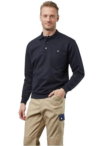 PIONIER WORKWEAR Sweatshirt mit Polokragen kaufen