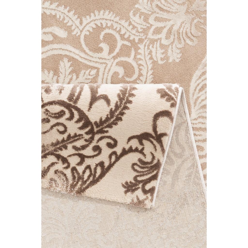 merinos Teppich »Bahar«, rechteckig, 12 mm Höhe, Vintage Design, Hoch-Tief-Struktur, Wohnzimmer
