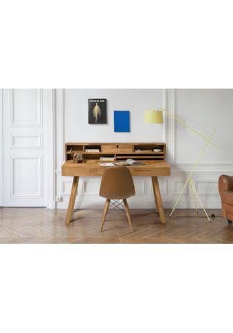 Home affaire Sekretär »Ohu«, aus schönem massivem Eichenholz, mit vielen... kaufen