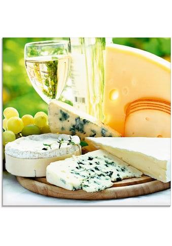 Artland Glasbild »Käse & Wein«, Lebensmittel, (1 St.) kaufen