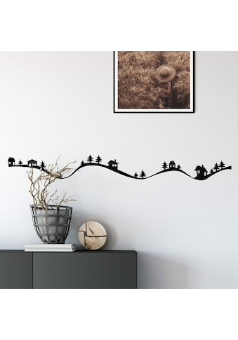 Wall-Art Wandtattoo »Weihnachtsdeko Dorf Berge 80cm« kaufen
