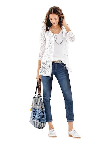 Lady Spitzen - Jacke mit schimmernden Satinblenden kaufen