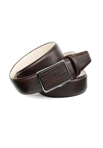 Anthoni Crown Ledergürtel, Perfekte Eleganz in Mocca für Anzüge und Jeans kaufen