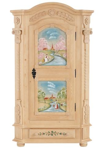 Premium collection by Home affaire Garderobenschrank »Teisendorf«, wahlweise mit besonderer Handbemalung, oder im schlichten Design bestellbar, Höhe 185 cm kaufen
