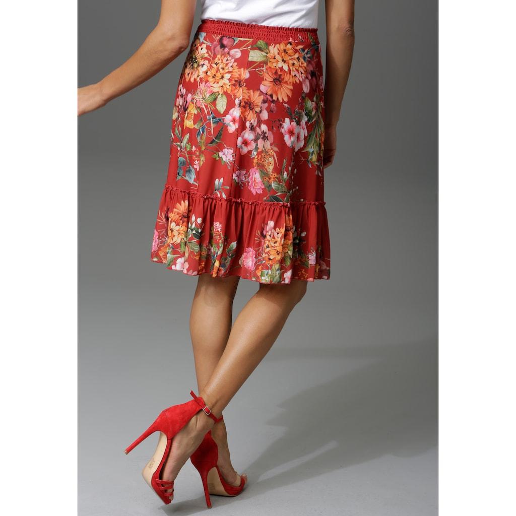 Aniston CASUAL Sommerrock, mit Blumendruck oder graphischem Muster - du hast die Wahl - NEUE KOLLEKTION