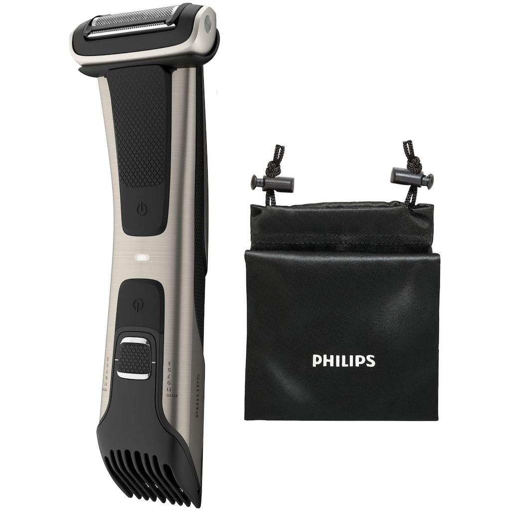 Philips Elektrokörperrasierer »BG7025/15«, mit integriertem 3 - 11 mm Kammaufsatz