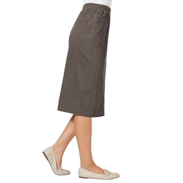 Classic Basics Jeans-Rock in knieumspielender Länge