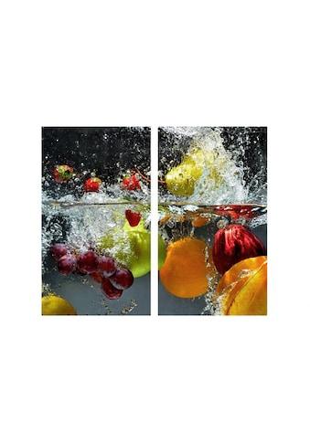 """Wall - Art Herd - Abdeckplatte """"Glasbild Erfrischendes Obst"""", Glas kaufen"""